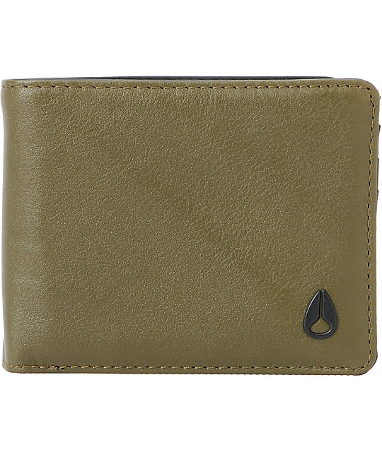 Nixon Pass ID Bifold Wallet in Surplus Green