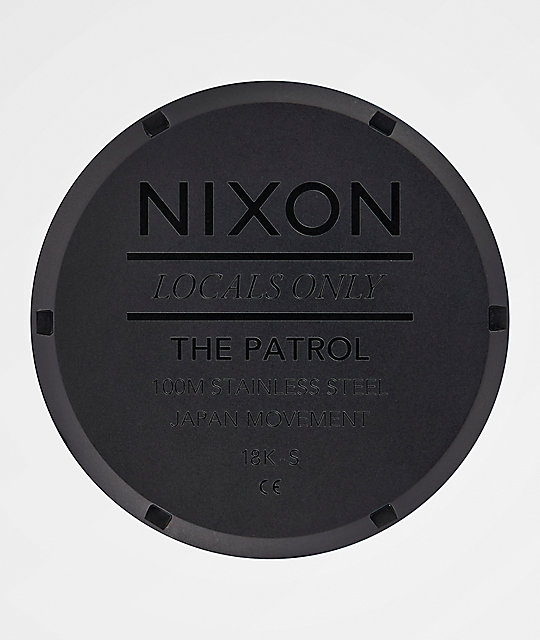Nixon Patrol Matte Black & Gold Watch