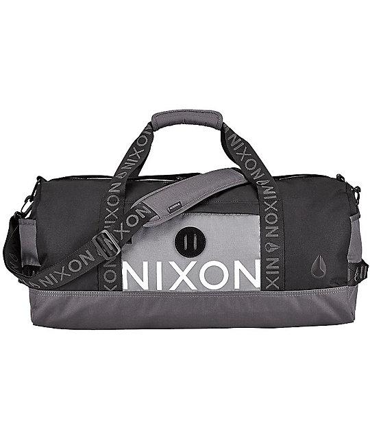 Nixon Pipes Black Dark Grey Duffle Bag