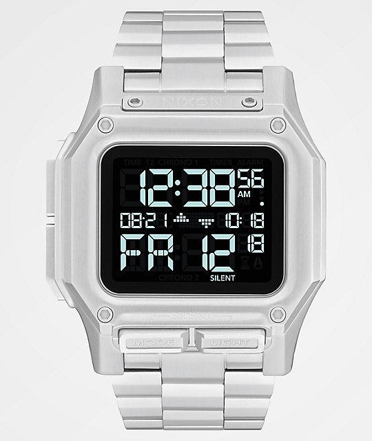 fotos oficiales 3af6f 3bfd0 Nixon Regulus SS reloj digital en negro y pata
