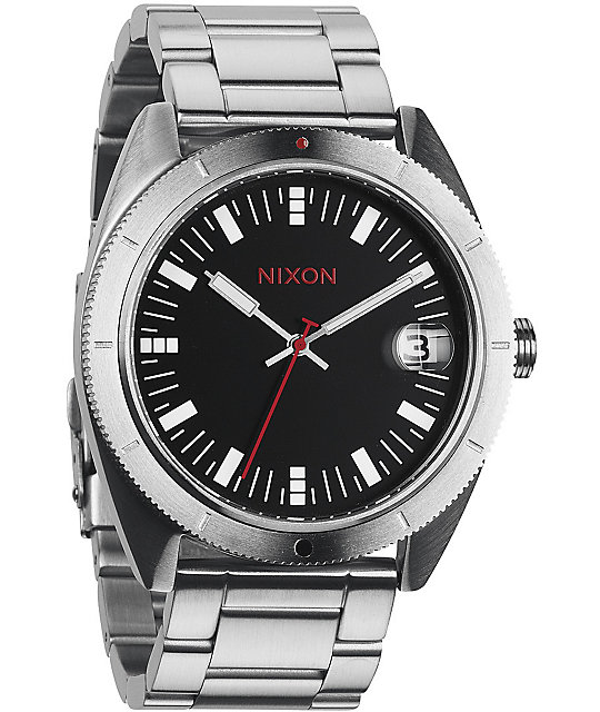 Nixon Rover SS Black & Red Watch