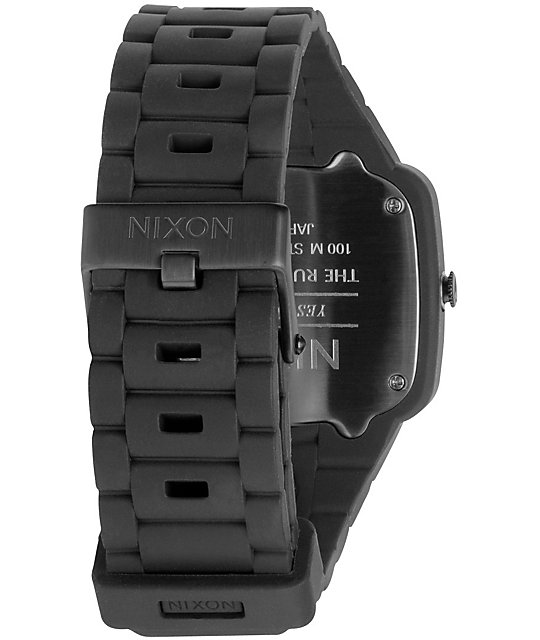 Nixon Rubber Player Black Analog Watch