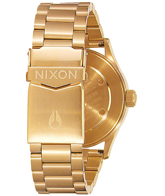 Nixon Sentry 38 SS reloj analógico en color oro