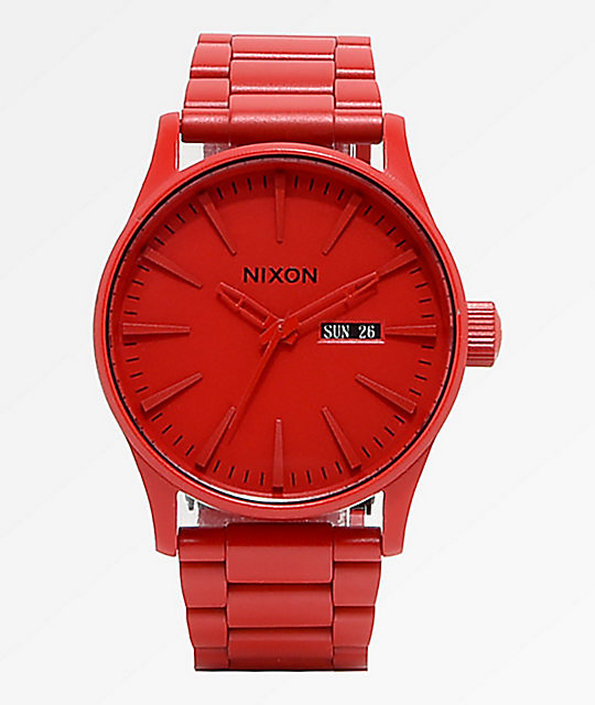 252f39ef7a9 Nixon Sentry SS All Red Analog Watch