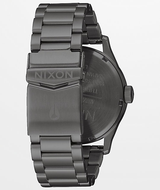 Nixon Sentry SS Navy Gunmetal Analog Watch