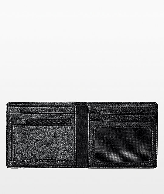 Nixon Showdown Black Canvas Bi-Fold Wallet