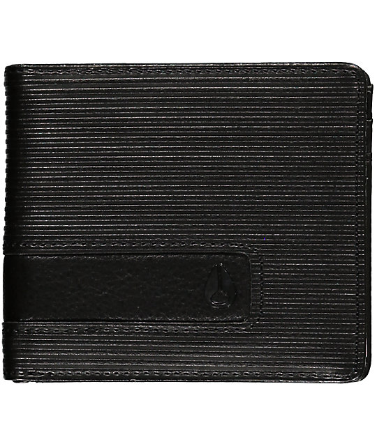 Nixon Showoff Black Bi-Fold Wallet