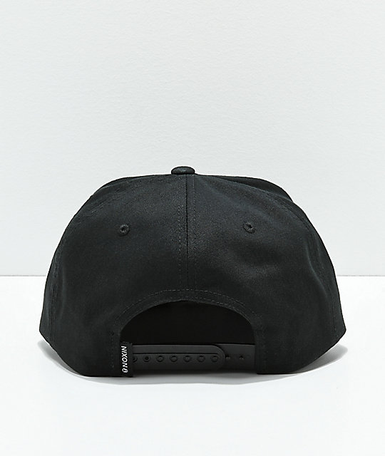 Nixon Simon Black & White Snapback Hat