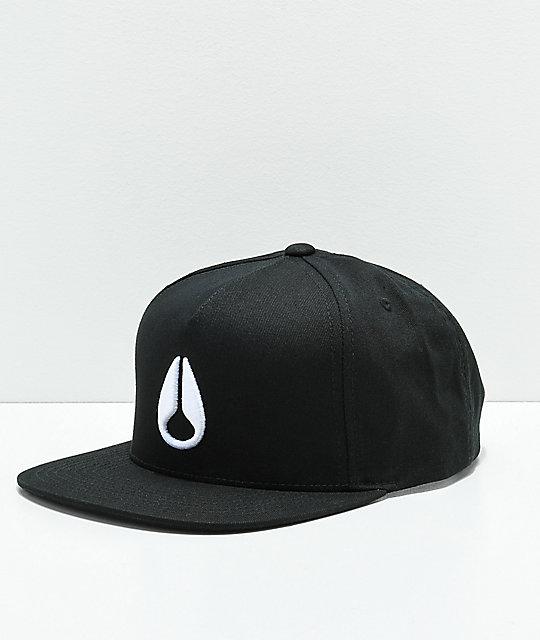 f7ba35c30 Nixon Simon Black & White Snapback Hat