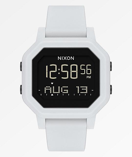 Nixon reloj Siren digital Siren reloj blanco Nixon Y6b7fgyv