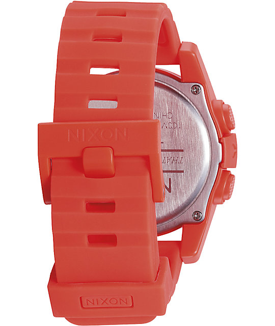 Nixon The Unit Neon Orange Digital Watch