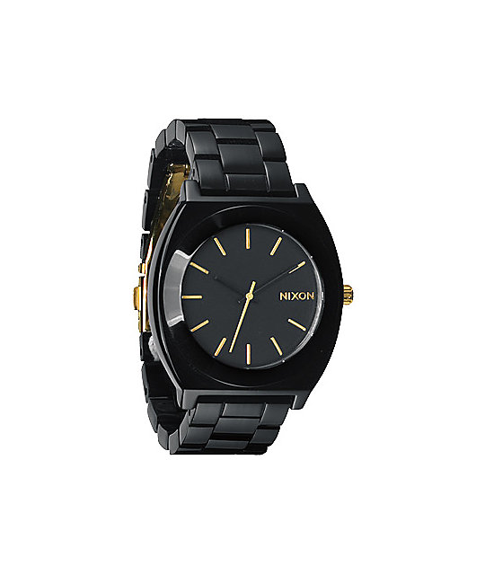 Nixon Time Teller Acetate All Black & Gold Analog Watch