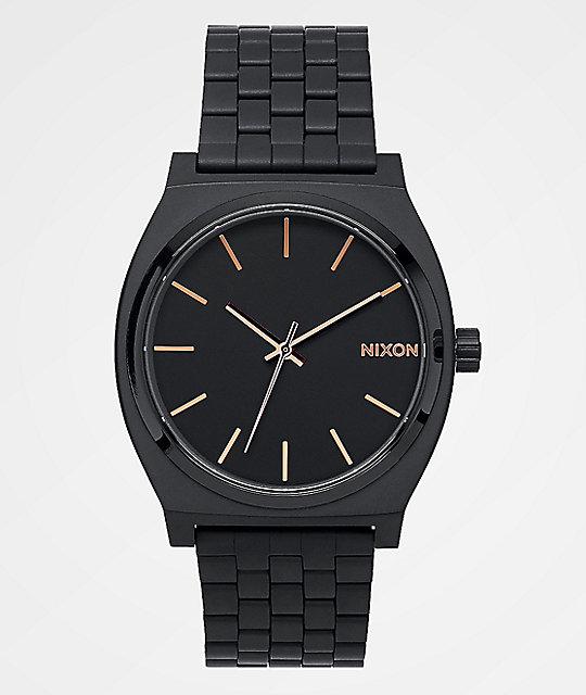 Black rose gold watch