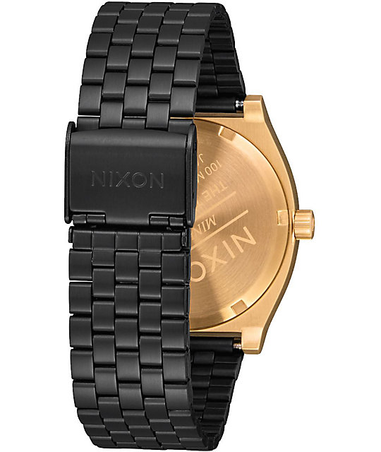 Nixon Time Teller Gold & Black Sunray Watch