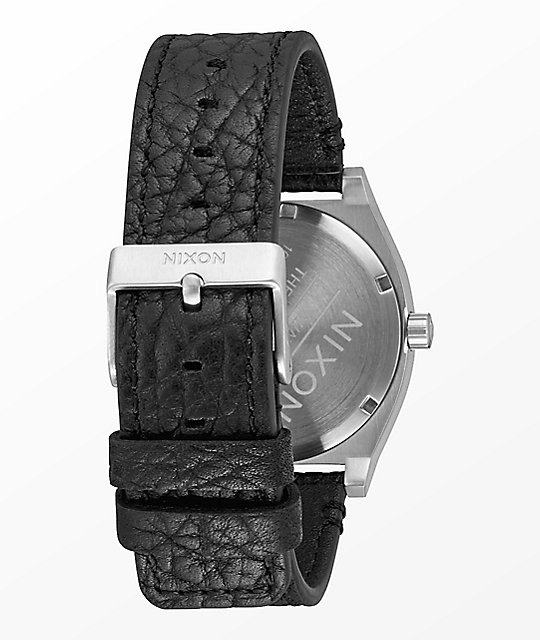 Nixon Time Teller Leather Black, Gunmetal & Black Watch