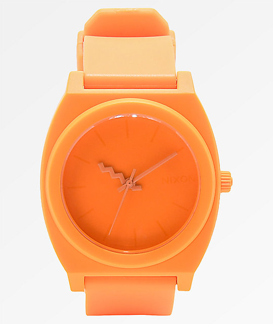 Nixon Time Teller Matte Neon Orange Analog Watch