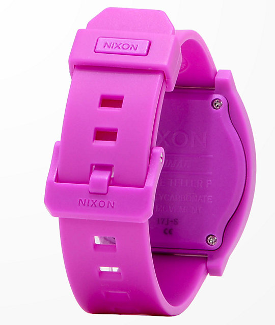 Nixon Time Teller Matte Neon Purple Analog Watch