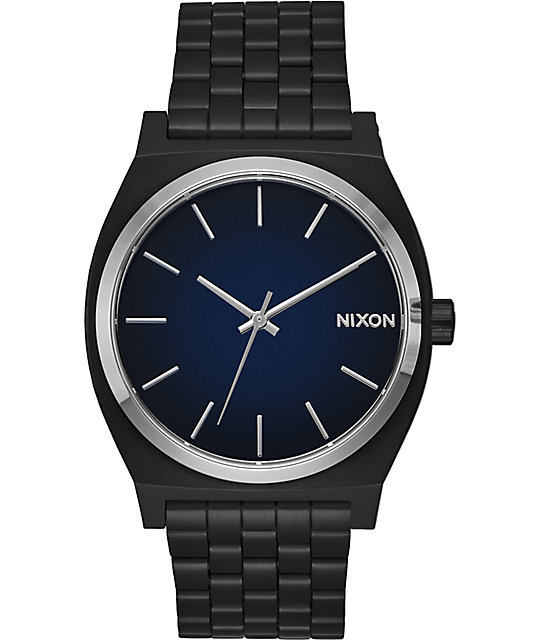Nixon Time Teller Ombre Black & Blue Watch