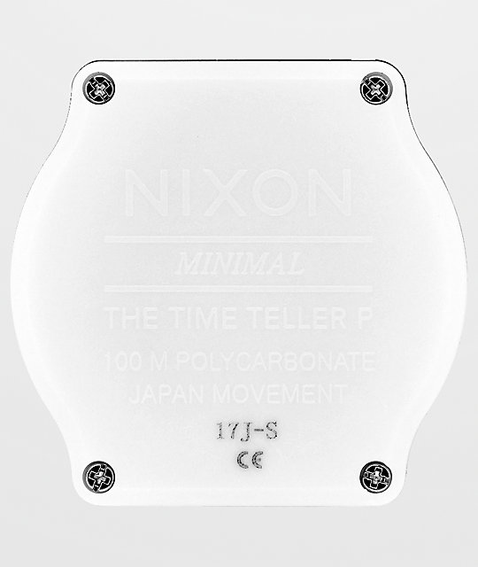 Nixon Time Teller P Corp White Analog Watch