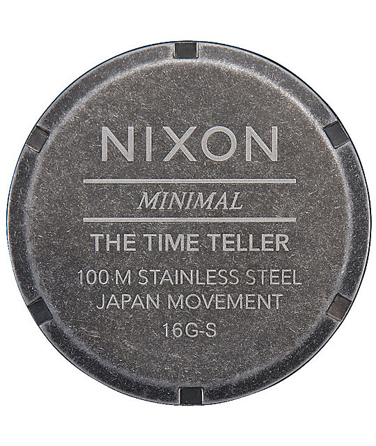 Nixon Time Teller reloj antiguo en color plata
