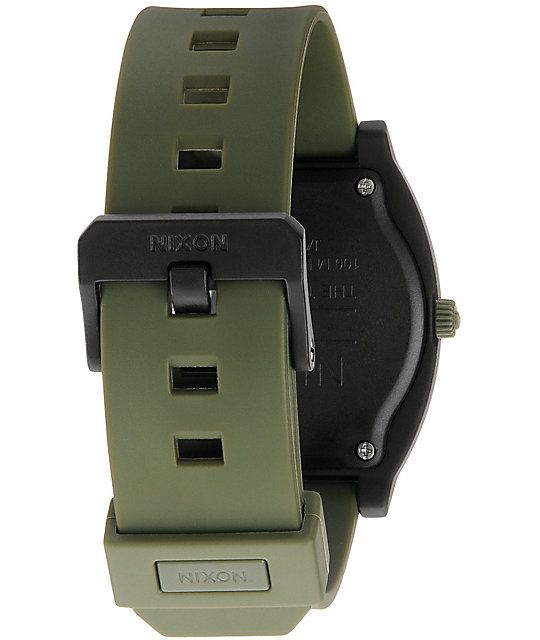 Nixon Timeteller P Army & Matte Black Digital Watch