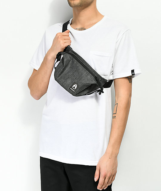 Nixon Trestles Heather Charcoal Fanny Pack