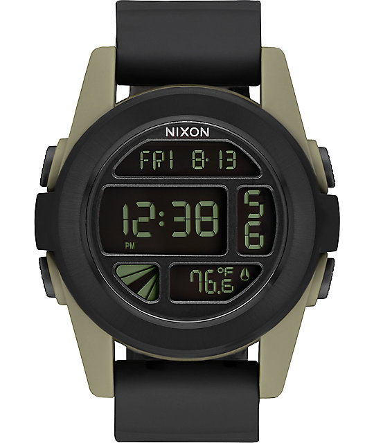 Nixon Unit Black & Sand Digital Watch