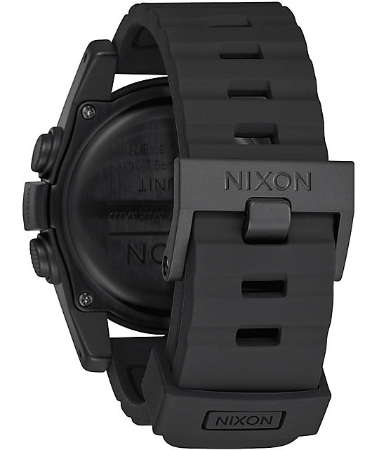 Nixon Unit Mashed Black, White & Sliver Digital Watch