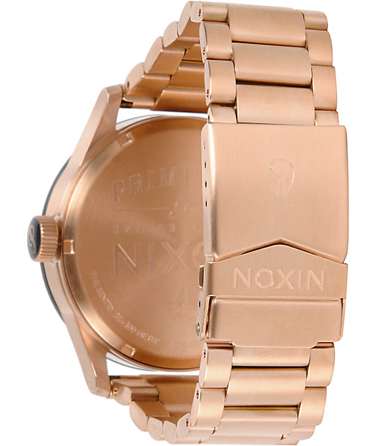 Nixon x Primitive Sentry Rose Gold Analog Watch