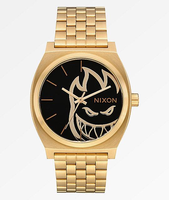 Zapatos 2018 encontrar el precio más bajo productos de calidad Nixon x Spitfire Time Teller Fireball reloj análogo de oro