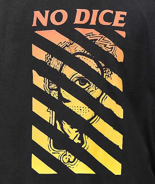 No Dice Mask Black Long Sleeve T-Shirt