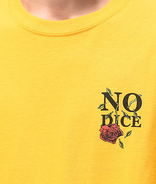 No Dice Rose camiseta dorada