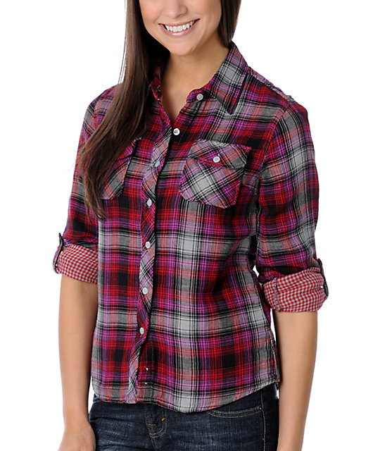 No Retreat Ghostland Double-Weave Plaid Woven Shirt