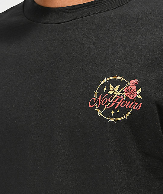 NoHours Bloom Black Long Sleeve T-Shirt
