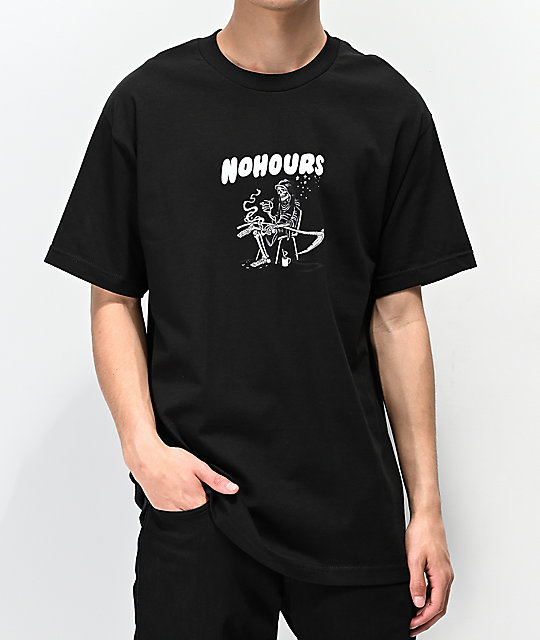 NoHours Death's Door Black T-Shirt