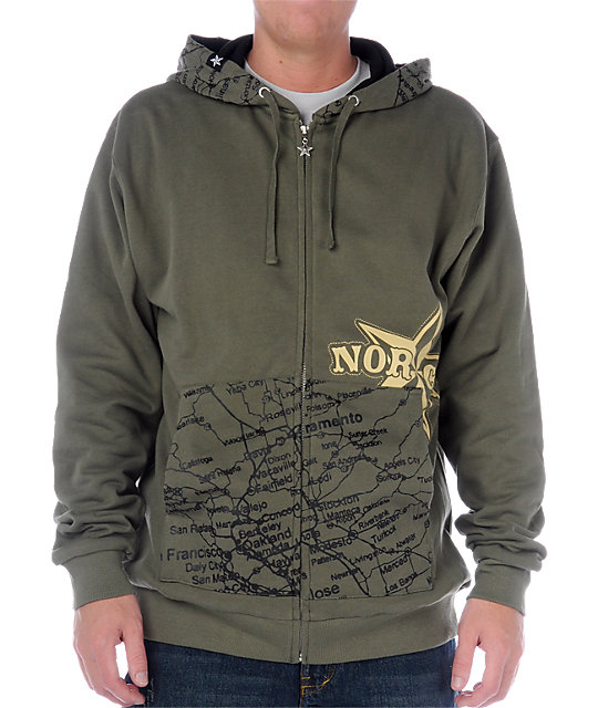 Nor Cal Bench Warmer Green Hoodie