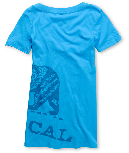 Nor Cal Big Ben Turquoise V-Neck T-Shirt
