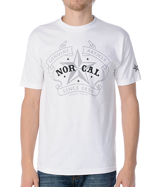 Nor Cal Crest White T-Shirt