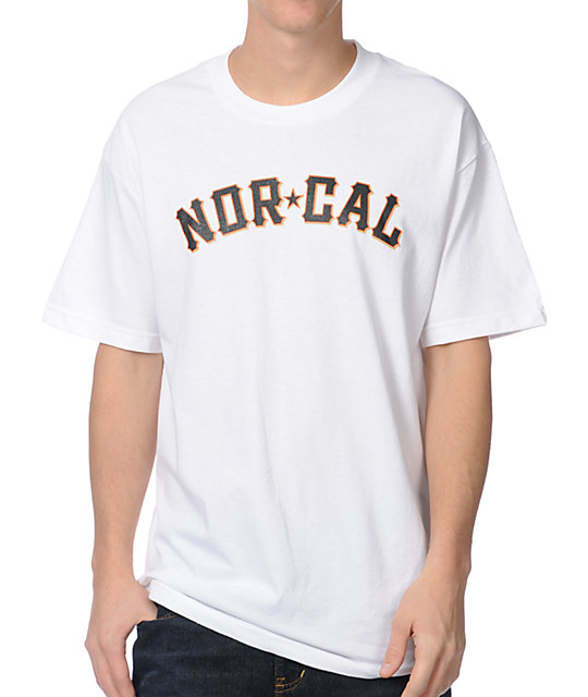 Nor Cal Goliath White T-Shirt