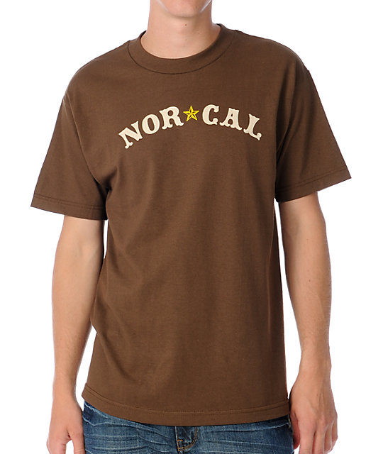 Nor Cal Mens Nautical Brown T-Shirt