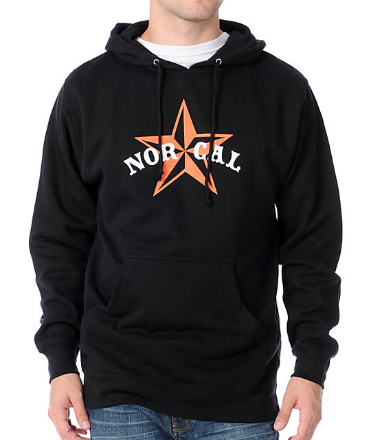 Nor Cal Nautical 2 Black & Orange Pullover Hoodie