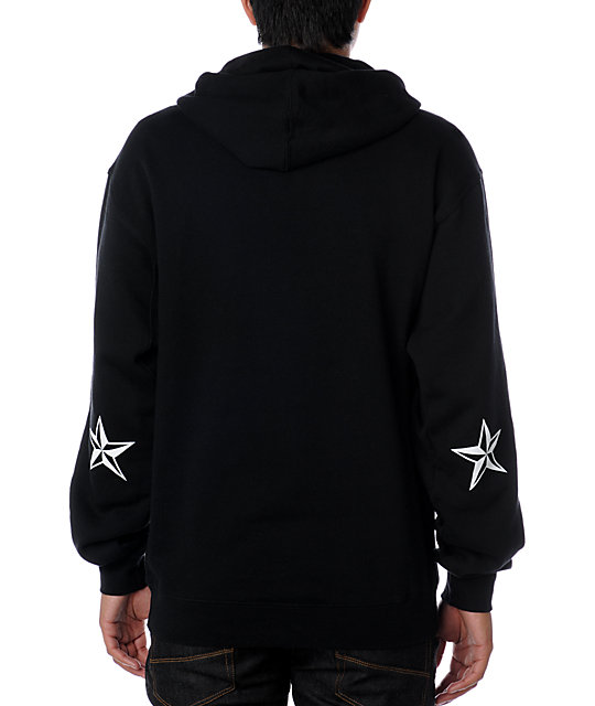 Nor Cal Nautical Black Hoodie