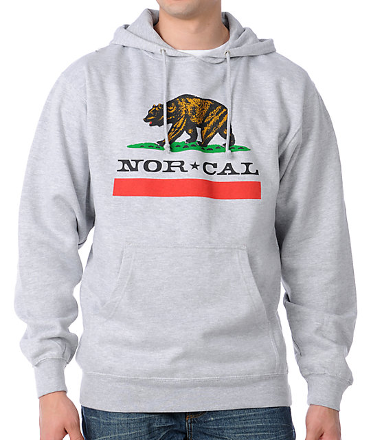 Nor Cal Republic Grey Pullover Hoodie