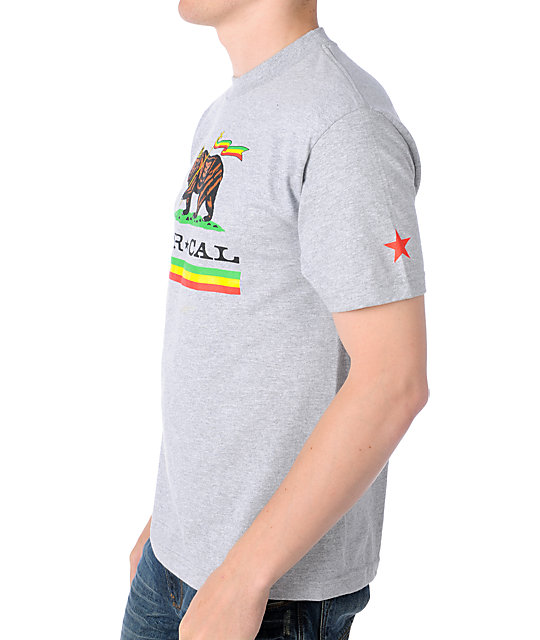 Nor Cal Rude Bear Heather Grey T-Shirt