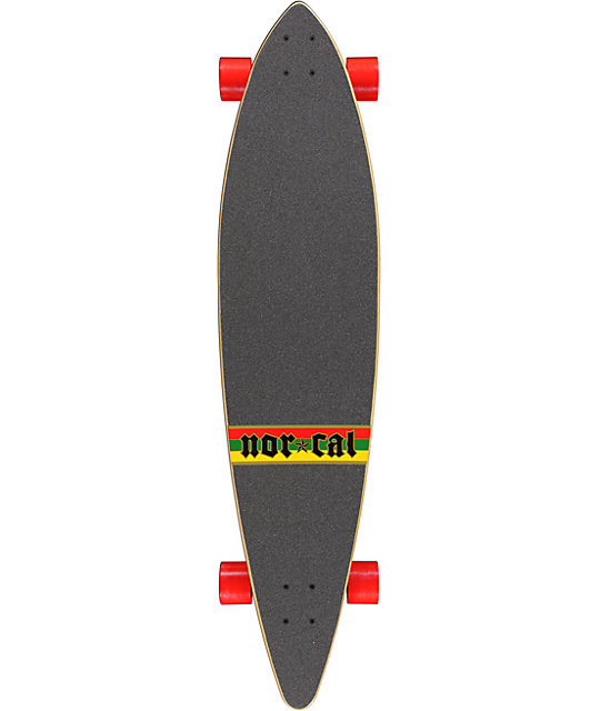 "Nor Cal Rude Bear Pintail 44""  Longboard Complete"