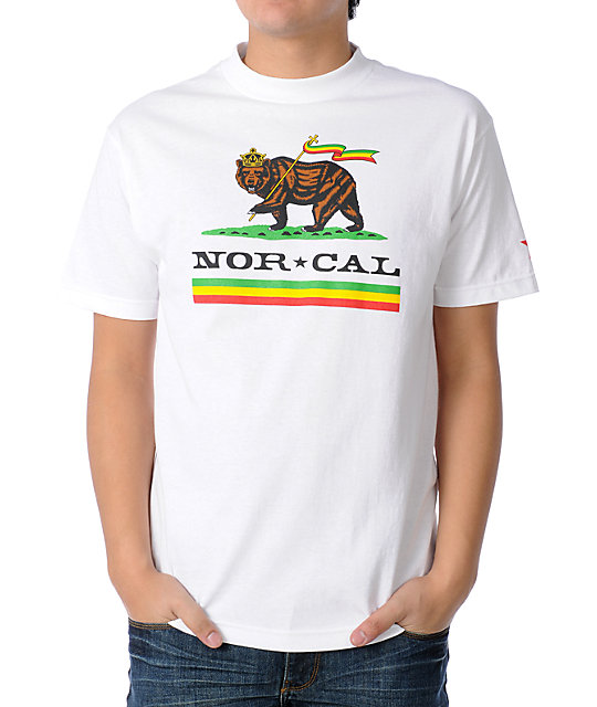 Nor Cal Rude Bear White T-Shirt