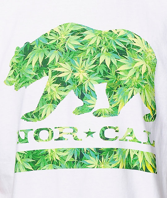 Nor Cal Weed Bear White T-Shirt