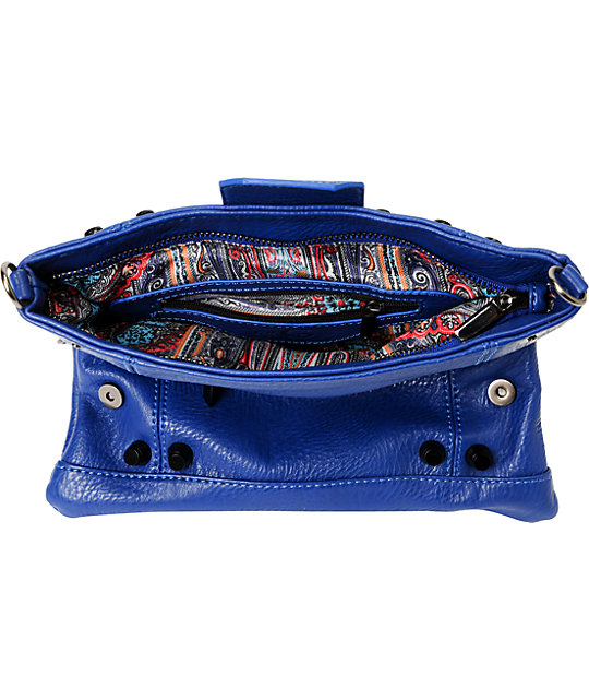 Nu-G Cobalt Blue Crossbody Clutch Purse