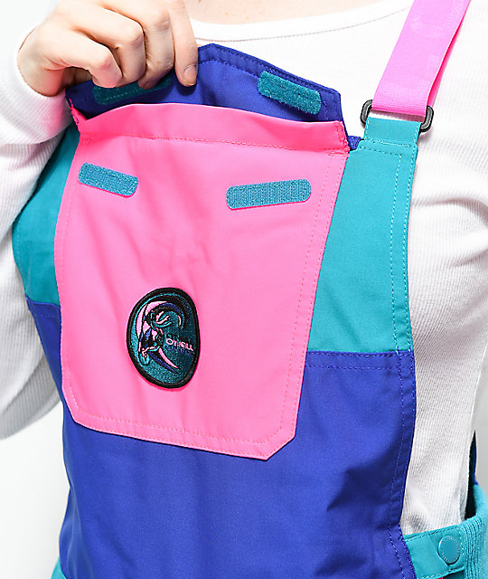 b66a38bfad ... O Neill 88  Shred Neon Pink 10K Snowboard Bib Pants ...