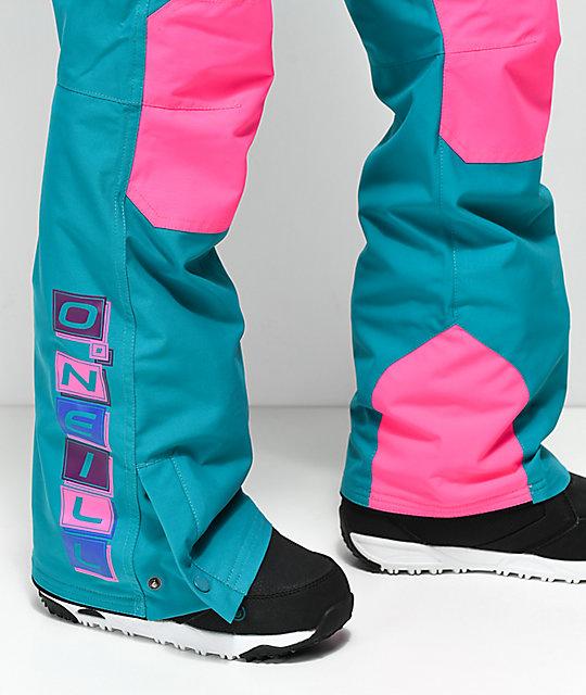 f96efc25d3 ... O Neill 88  Shred Neon Pink 10K Snowboard Bib Pants